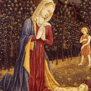 세례자 요한과 함께 있는 아기 예수와 성모