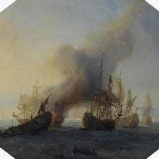 프랑스 함대가 북쪽 바다에서  승리를 거둔 해상전
