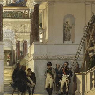 건축가 페르시에와 퐁텐의 안내로 루브르를 방문하는 나폴레옹 1세