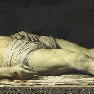 수의 위에 누워 죽은 그리스도
