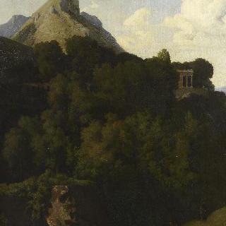 가족과 이별하는 추방자가 있는 풍경 (사비나의 산)