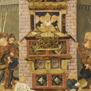 카소네 장식판 : 로마인들과 사비나인들을 화해시키는 헤르질리에