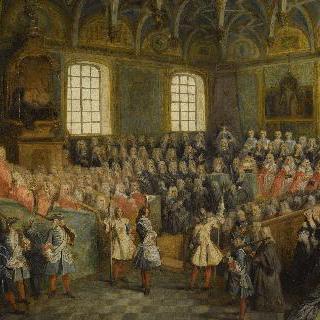 루이 15세의 성년됨을 선포하는 의회