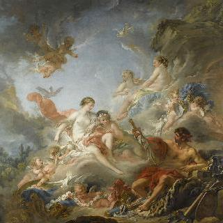 불카누스의 대장간 (비너스에게 아에네아스를 위한 무기를 건네는 불카누스)
