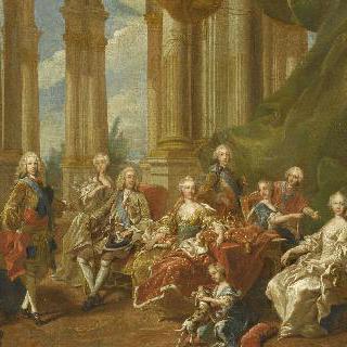 스페인 국왕 필립 5세와 가족 (초벌화)