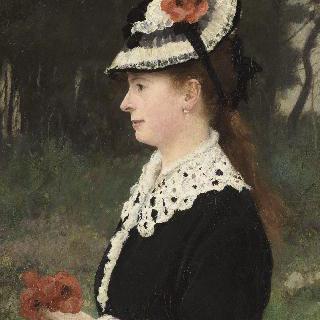 개양귀비꽃을 들고 있는 부인, 화가의 첫번째 부인 마리 포르쉐