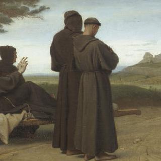 생트 마리 데장주 수녀원으로 옮겨지는 죽어가는 성 프란체스코 다시즈