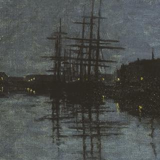 디에프 항구의 야경