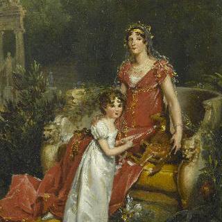 엘리자 보나파르트 바키오치와 딸 나폴레옹 엘리자