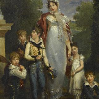 루이즈 앙투아네트 란, 몽트벨로 공작 부인과 다섯 아이들