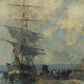 루앙 항구의 노르웨이 배