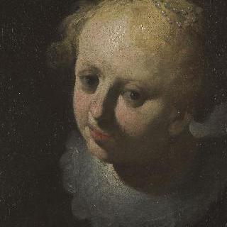 어린 소녀의 얼굴