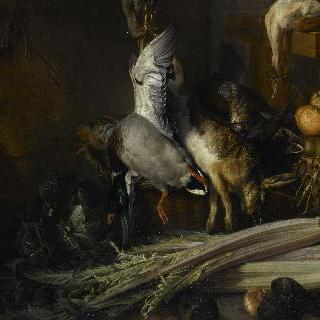 닭고기, 사냥감, 야채와 과일