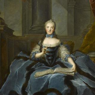 음악책을 든 아델라이드 드 프랑스 부인, 루이 15세의 딸