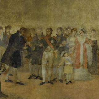 1808년 루브르에서 열린 살롱전을 방문한 나폴레옹 1세