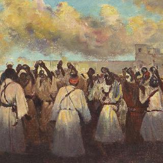 마라케시의 춤추는 흑인들