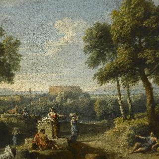 멀리 콜로세움이 보이는 로마 근교 풍경