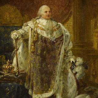 왕정복을 입은 루이18세의 초상 (초안)