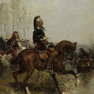 강을 건너는 용기병 장교