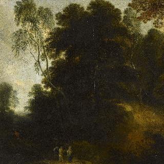 세 명의 남자가 있는 풍경