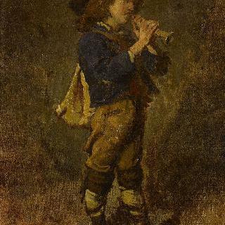 플루트를 연주하는 이탈리아 소년