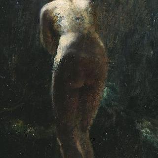 서있는 여인의 누드, 뒷모습