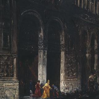 수피르 다리 아래, 도기 궁의 옆문
