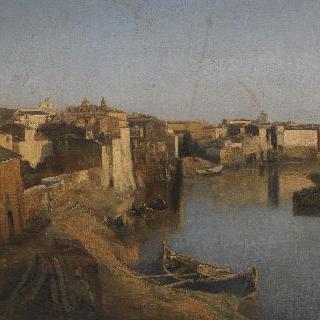 로마의 티브르 강 전경