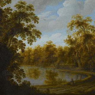 연못이 있는 풍경