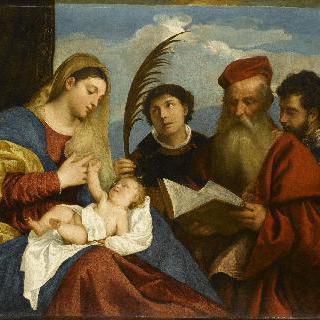 성녀 에티엔, 성 제롬, 성 모리스와 성 모자