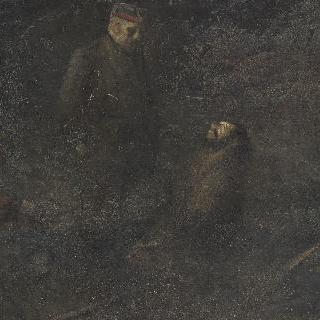 묘지에 있는 독일 군인
