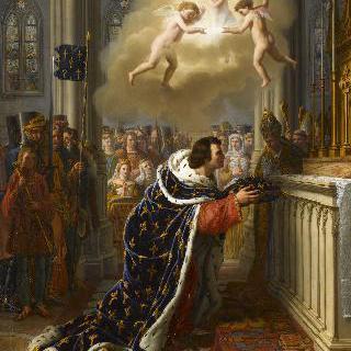 1248년 파리 생트 샤펠에 면류관을 맡기는 생 루이