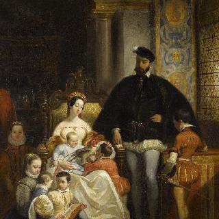 프랑스의 왕 앙리 2세, 카트린 드 메디시스, 그리고 그의 아이들