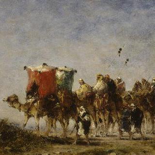 사막의 여행마차