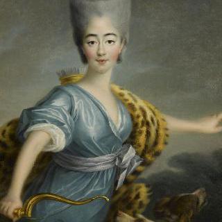 사냥의 여신 다이아나의 모습을 한 마리-조제핀-루이즈 드 사부아, 프로방스 백작부인