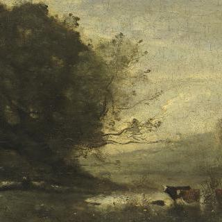 연못 앞 목동