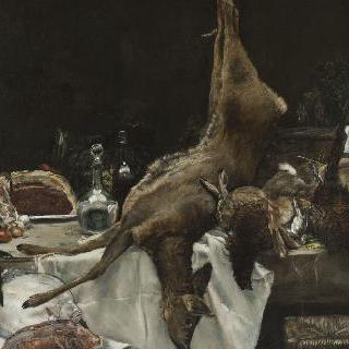 사냥 중의 식사준비