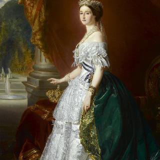 프랑스 황후 외제니 드 몽티조 드 구즈만 (1826-1920), 1853년의 공식 초상화