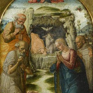 성 제롬과 성 프란체스코가 함께 한 아기 예수의 경배