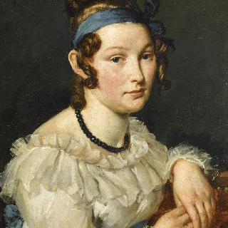 흑옥 목걸이를 한 젊은 여인