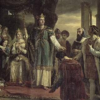 벵센 소나무 아래 정의의 여신을 방문한 성 루이