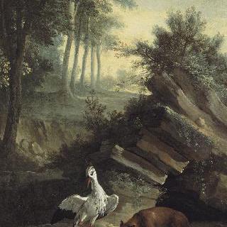 여우와 황새, 라 퐁텐 우화