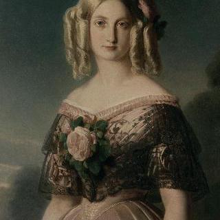 오말의 공작부인 마리 카롤린 오귀스트 드 부르봉 (1822-1869)의 초상