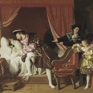 레오나르도 다빈치의 임종을 바라보는 프랑수아 1세