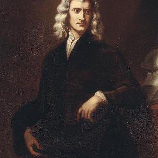 철학자, 수학자 이삭 뉴턴의 초상