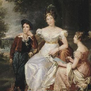 조에 탈롱, 바쉬 뒤 카일라 백작 부인과 그녀의 두 아이들의 초상