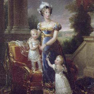 마리 카롤린, 베리 공작부인과 그녀의 두 아이들의 초상