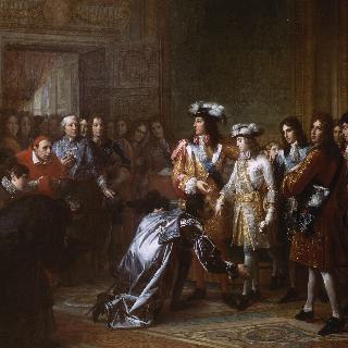 1700년 11월 16일 필립 5세의 이름으로 에스파뉴 왕, 앙주 공작의 즉위선언