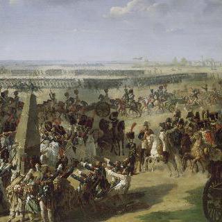 로스바흐를 기념하는 기둥을 쓰러트리는 프랑스 군대