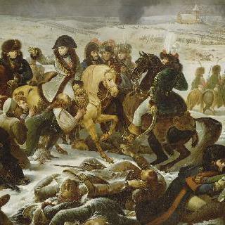 1807년 2월 9일 아일라우 전장 기지의 나폴레옹 1세